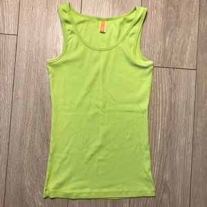 Lucy lime green ribbed tank